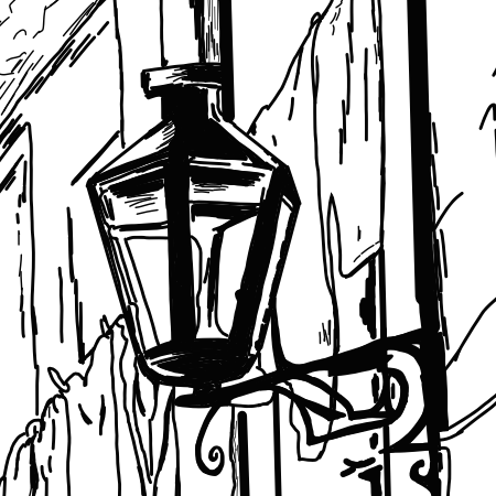 Close up image of street lamp